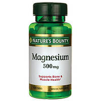 Nature's Bounty Magnesium 500 mg 100 tab, фото 1