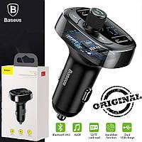 FM Трансмиттер Модулятор Baseus S-09a T-Typed Bluetooth MP3 Black
