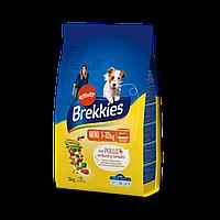 Brekkies Dog Mini 20 кг - корм для взрослых собак маленьких пород (курица)