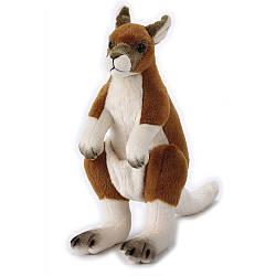 Мягкая игрушка 770834 (24шт) кенгуру, 27см, с сумкой