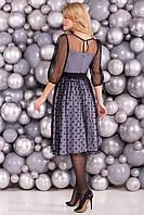 """Женское элегантное платье с сеткой сверху """"КАРОЛЬ 6062"""""""