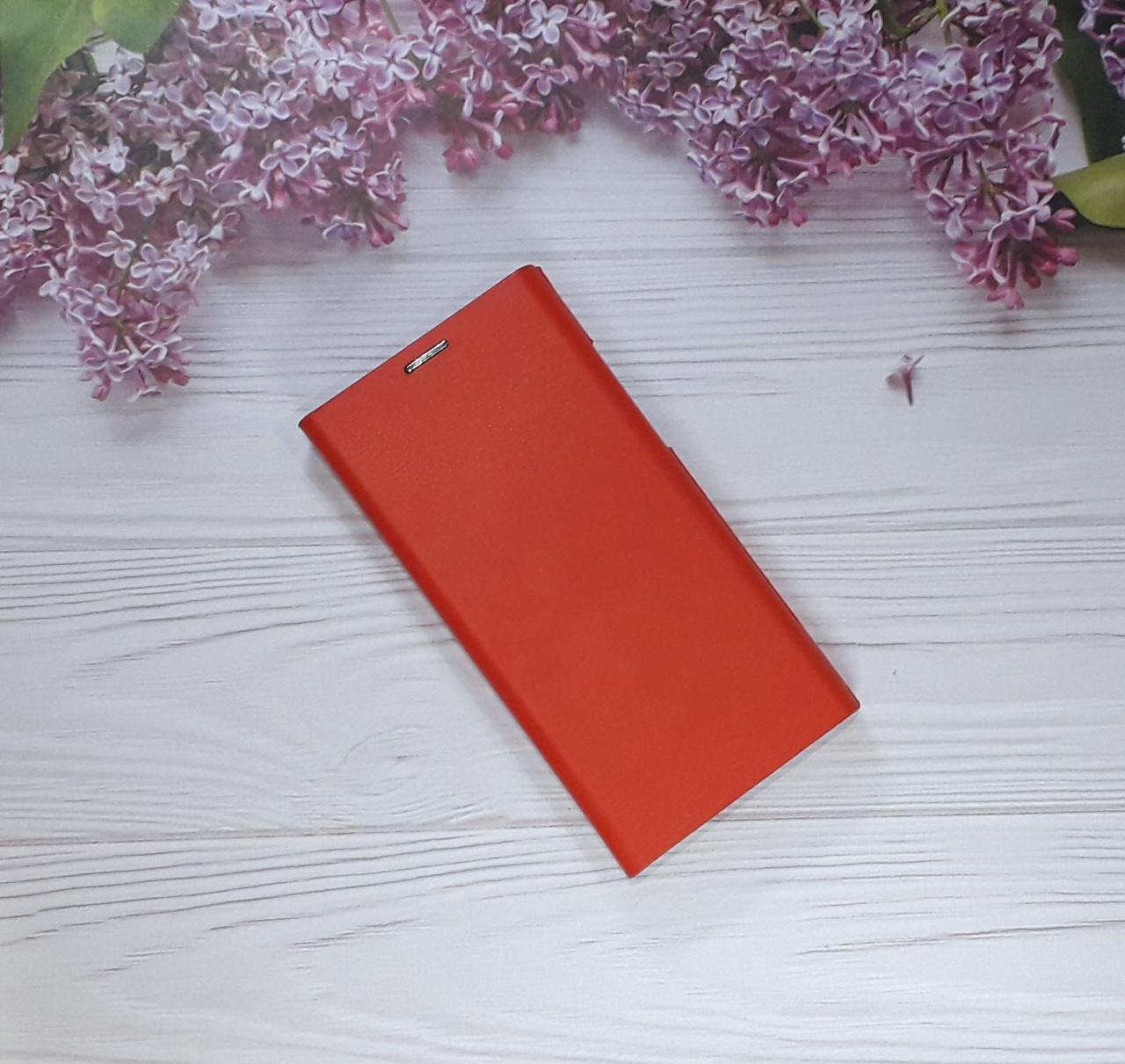 Чохол (книжка) з візитницею для Samsung A8 (18), Red