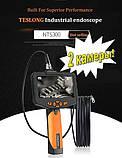 """Відеоендоскоп NTS 300 Teslong з монітором 4,5"""" 3 метра 8 мм дві камери відеоскоп бороскоп ендоскоп технічний, фото 2"""