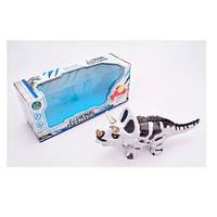 Динозавр 988-2 (36шт) 28см, звук, свет, ходит, 3цв, на бат-ке, в кор-ке, 30-13-11см