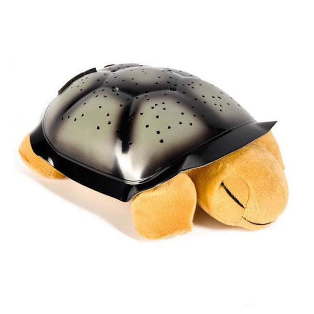 Проектор ночник звездного неба Черепаха Turtle Night Sky   Коричневый