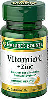 Nature's Bounty Vitamin C + Zinc 60 tab, фото 1