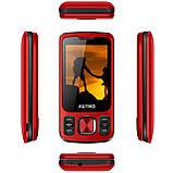 Кнопковий мобільний телефон слайдер на 2 сім карти Astro A225 червоний, фото 2