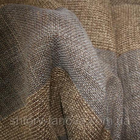 Порт (колл-мо) джут полоска 5310 №2 беж-серый 280 см