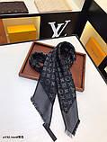 Хустку, шаль, палантин Луї Вітон з люрексом, якість ААА, фото 2