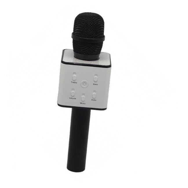 Беспроводной микрофон-караоке Q7 в коробке | Черный