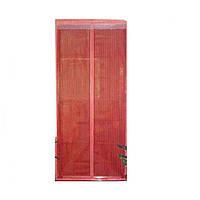 Антимоскитная сетка Magic Mesh на магнитах | Антимоскитная магнитная штора | Красная