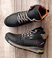Мужские зимние ботинки Diesel Black. Натуральная кожа и мех.