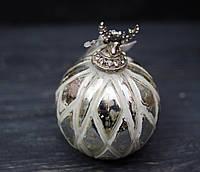 Новогоднее украшение - игрушка керамо-стеклянная, фото 1