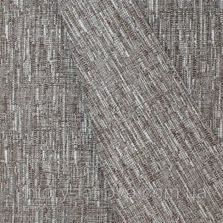 Декор шенилл рогожка меланж метро бело-коричневый