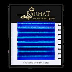Ресницы для наращивания Barhat (Синие) 0,07 В (растяжка 9-12)