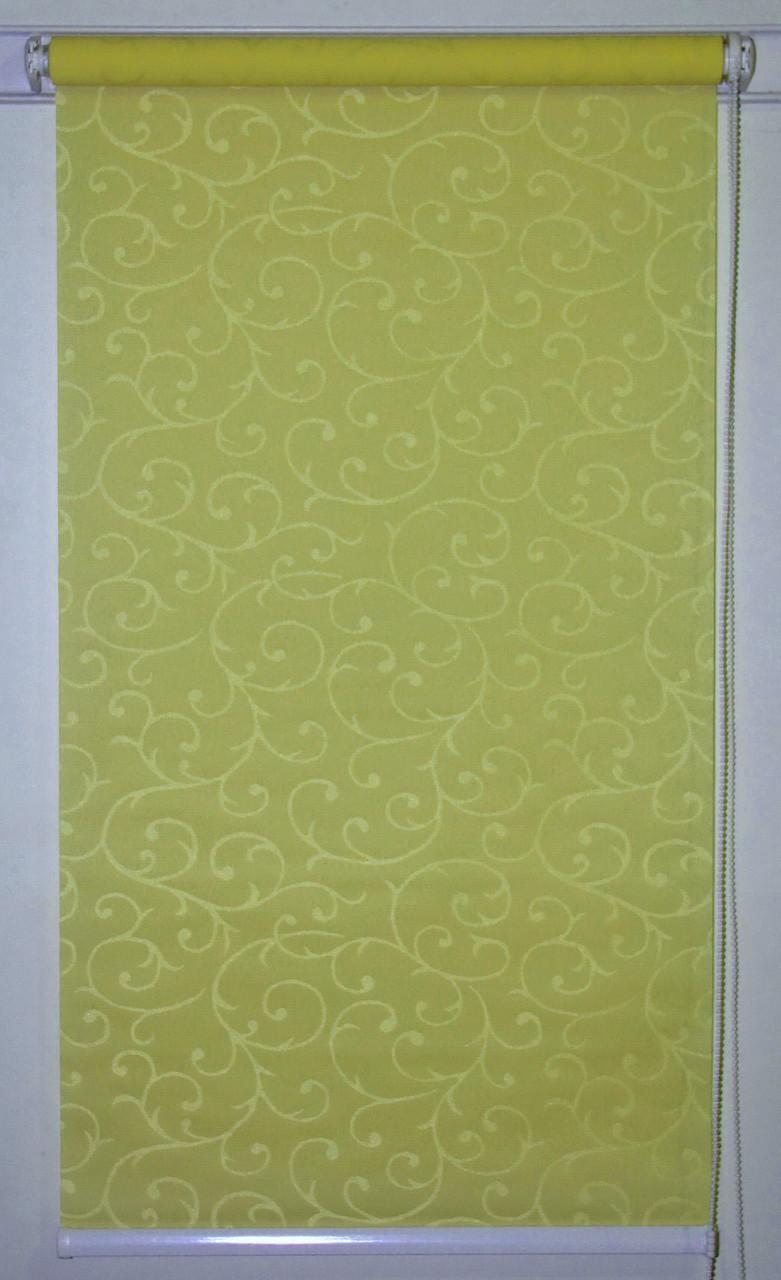 Рулонная штора 975*1500 Акант 116 Оливковый