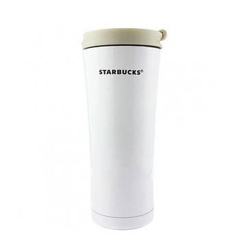 Термокружка Starbucks-3 500 мл | Тамблер Старбакс | Термос | Белая