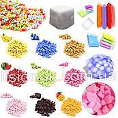 Набор foam slime box для слаймов – пенопласт, поролоновые сердечки, джелли кубс, фоам чанкс