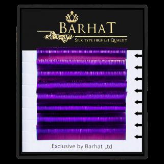 Ресницы для наращивания Barhat (Фиолетовые) 0,07 С (растяжка 9-12)