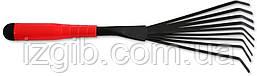 Віялові граблі з покриттям пластикова ручка 410 мм