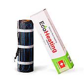 7 м². Кабельный мат EcoHeating 150 / 1050 Вт / электрический теплый пол с подогревом  под плитку