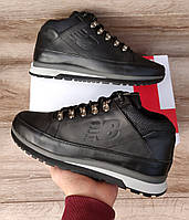 Мужские ботинки New Balance 754 Black Натуральная кожа и мех