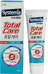 Зубна паста для комплексного догляду з м'ятою Lion Systema Total Care mint green