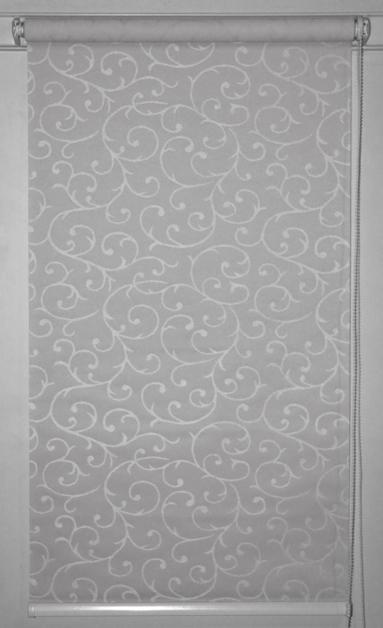 Готовые рулонные шторы 300*1500 Ткань Акант 2267 Серый