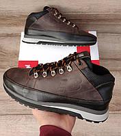 Мужские ботинки New Balance 754 Brown Натуральная кожа и мех