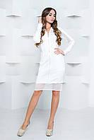 Платье со вставками из сетки