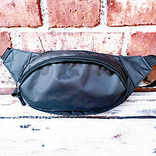 Щільна чорна ТРИ відділу сумка на пояс