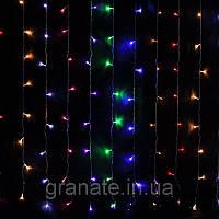Гирлянда штора 3.5*1,5 м, разноцветная 500 LED