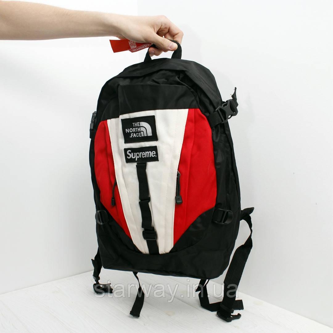 Рюкзак The North Face х supreme логотип нашивка | фирменная фурнитура | бирка