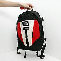 Рюкзак The North Face х supreme логотип нашивка | фирменная фурнитура | бирка, фото 1