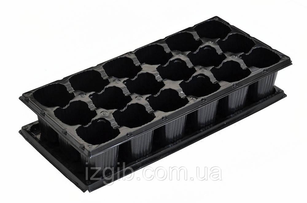 Кассета с поддоном для рассады Украина 440х205х50 мм поддон высокий - iZgiB.com.ua интернет-магазин инструмента в Днепре