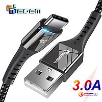 Кабель быстрой зарядки Tiegem USB - Type-C Black 1 метр