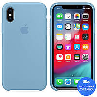 Чехол силиконовый Apple Silicone Case (голубой 16) для iPhone XS Max
