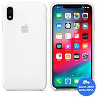 Чехол силиконовый Apple Silicone Case (белый 09) для iPhone XR