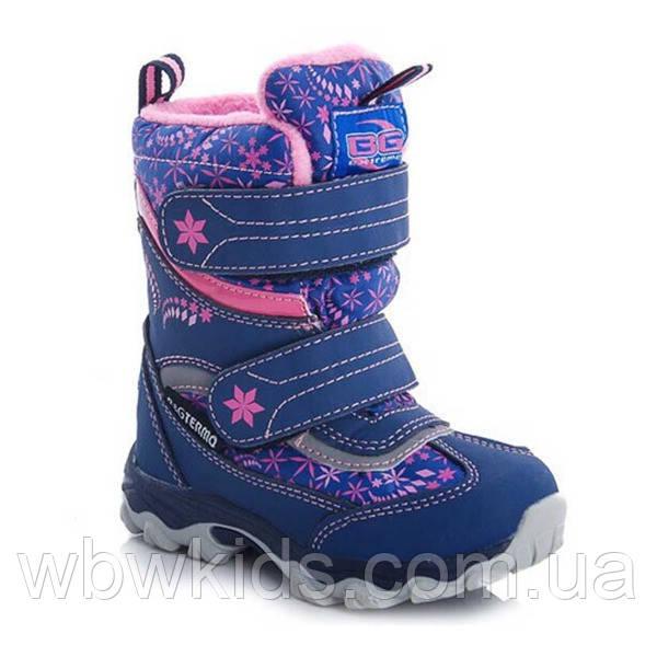 Термо ботинки зимние детские B&G ZTE20-2-642 для девочки (25,28р.)