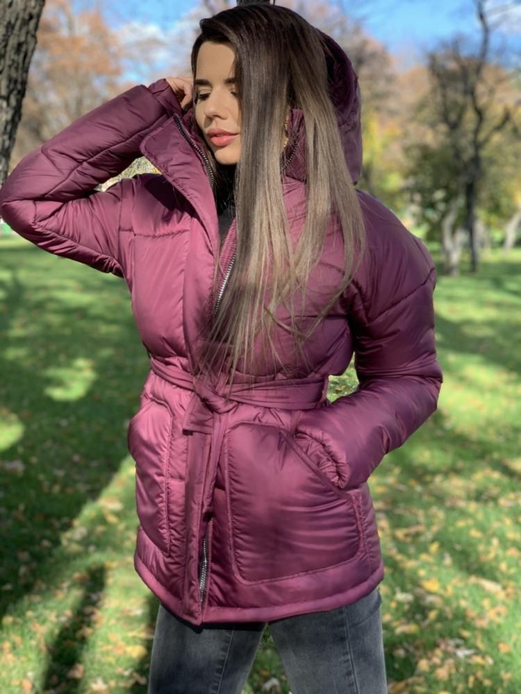 Крутая зимняя куртка, с капюшоном и накладными карманами, в расцветках