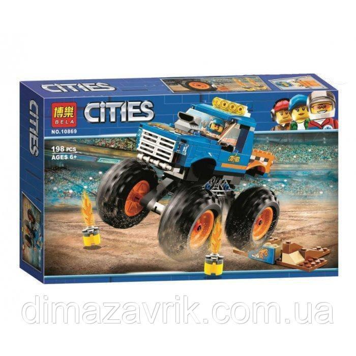 """Конструктор Bela 10869 (Аналог Lego City 60180) """"Монстер Трак"""" 198 деталей"""