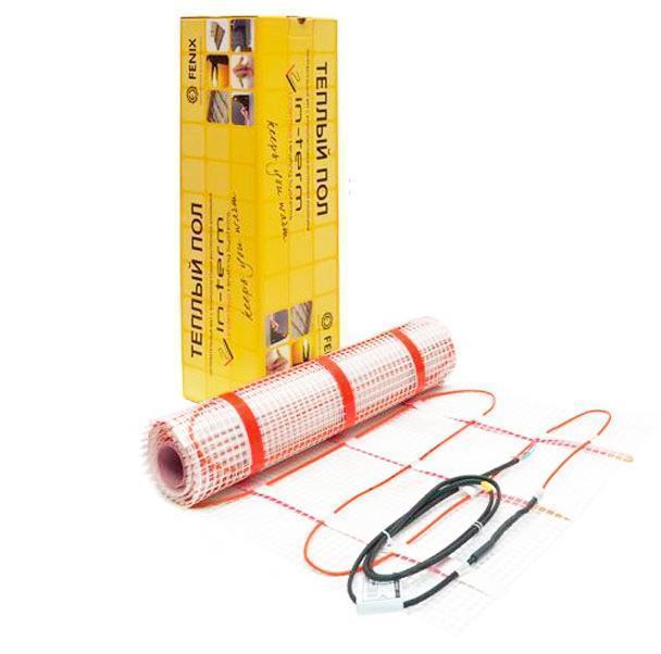 Мат нагревательный IN-THERM ECO / 0.9  м² / 145 Вт / теплый пол электрический  под плитку / Чехия