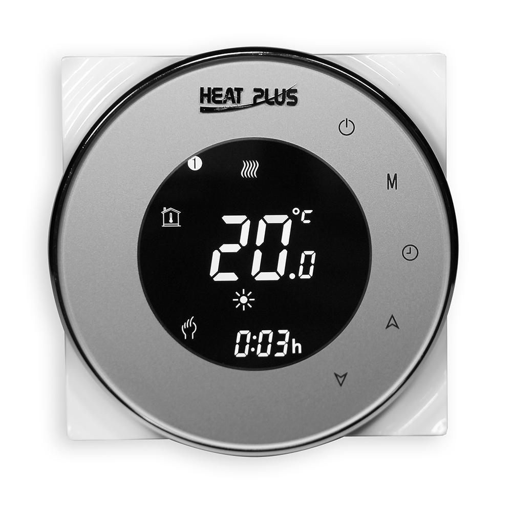 Сенсорный программируемый терморегулятор для теплого пола  Heat Plus BHT-5000 Серебристый (Silver)
