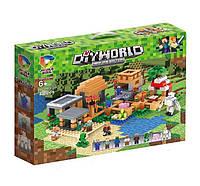 """Конструктор TM7433A (Аналог LegoMinecraft 21128) """"Деревня""""496 деталей"""