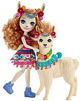 Энчантималс Луэлла Лама и питомец Флиси Enchantimals Lluella Llama FRH42