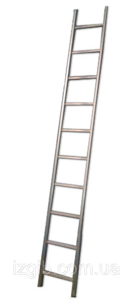 Лестница алюминиевая приставная 10 ступеней 10 ступеней (Н 2,84м; 4,8кг)