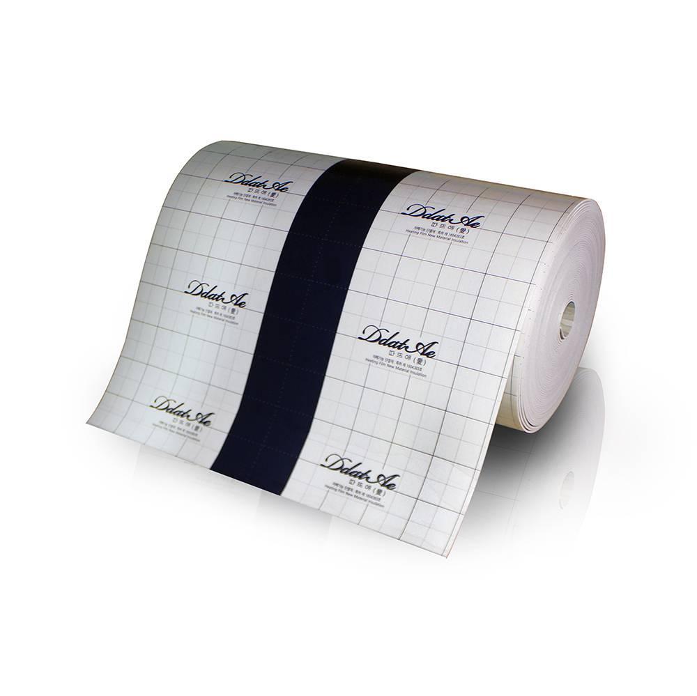 Подложка для плёночного пола  Heat Plus E-PEX 5 мм / Ширина 1 м / с заезмлением
