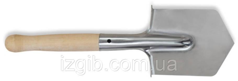 Лопата саперная нержавейка Украина 500мм деревянная ручка - iZgiB.com.ua интернет-магазин инструмента в Днепре