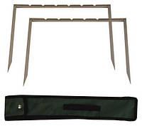 Мангал-рамка на 6 шампуров в комплекте, чехол 44х36 см