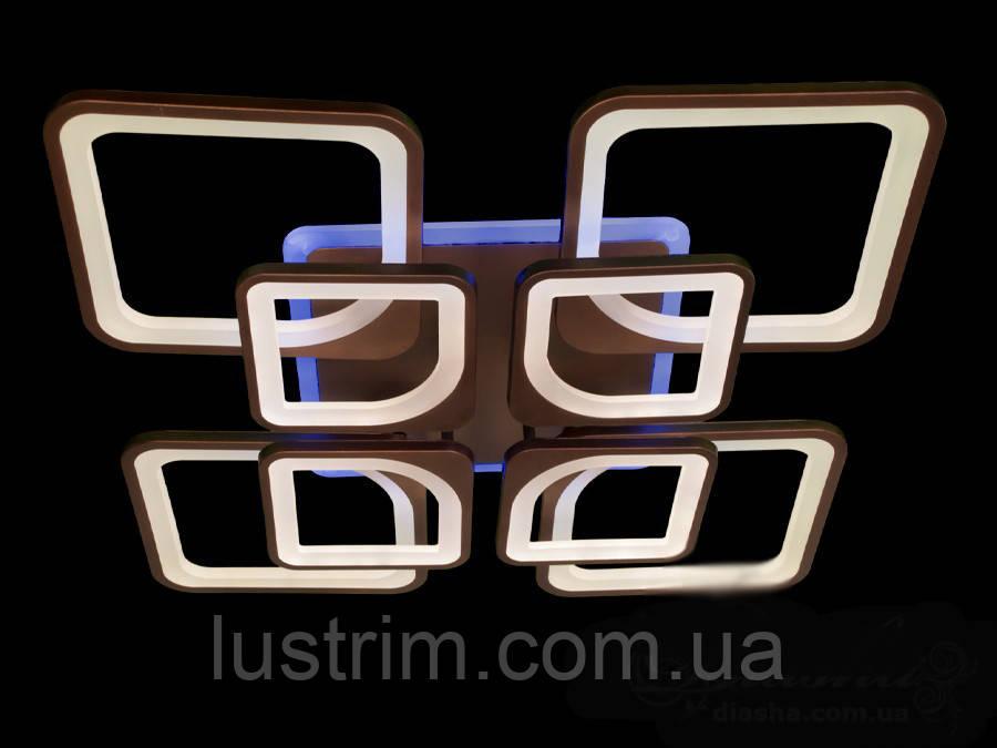 Светодиодная LED люстра с димером и цветной подсветкой 170W